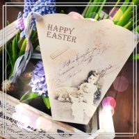 Shabby Chic Papieranhänger Ostern