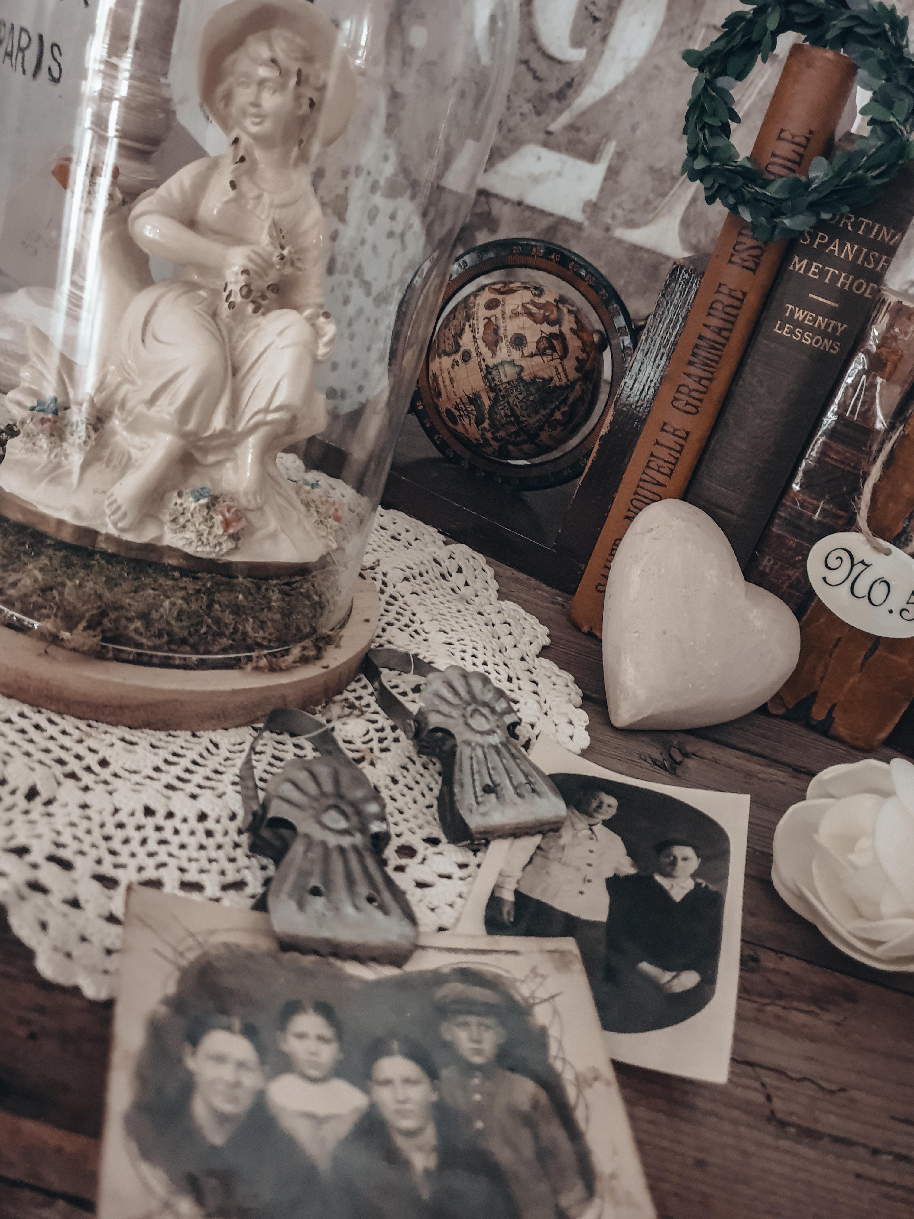 Shabby Chic Antikes Vintage Deko Set 1