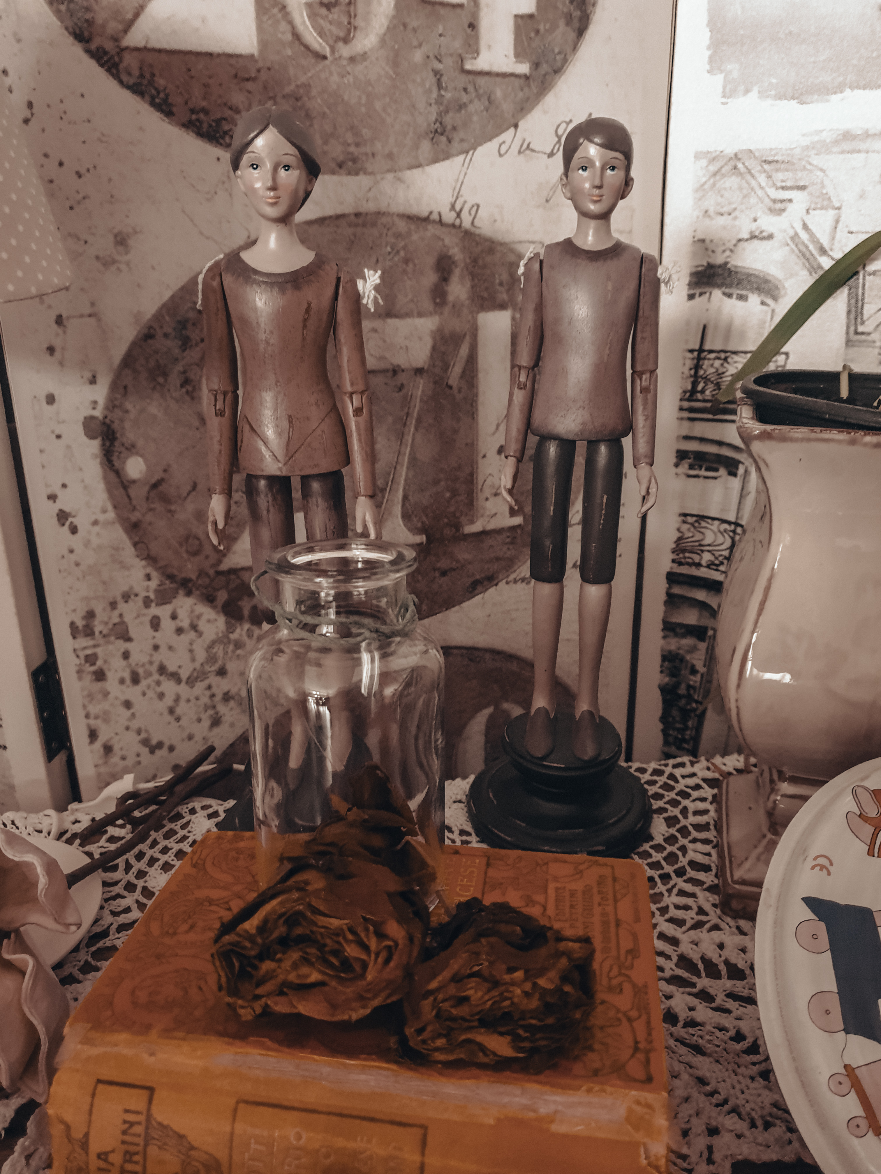 Shabby Chic Antikes Vintage Deko Set 2