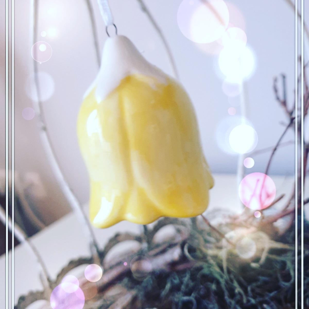 Deko Anhänger Blume mit Glöckchen